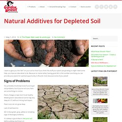 Natural Additives for Depleted Soil