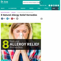 8 Natural Allergy Relief Remedies