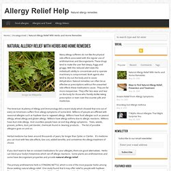 Natural Allergy Relief With Herbs and Home Remedies