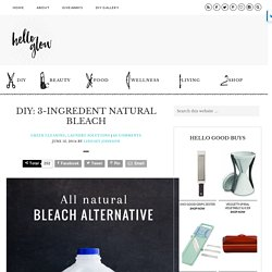 All-Natural Bleach Alternative