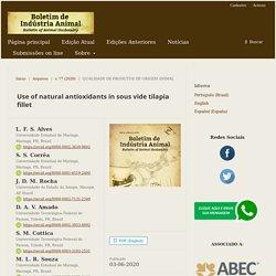 BULLETIN OF ANIMAL HUSBANDRY (BR) - 2020 - Use of natural antioxidants in sous vide tilapia fillet