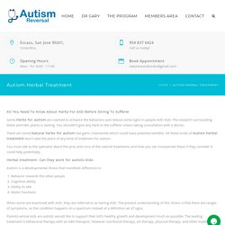 Find Natural Herbs for Autism