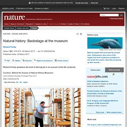 Natural history: Backstage at the museum : Nature : Nature Research