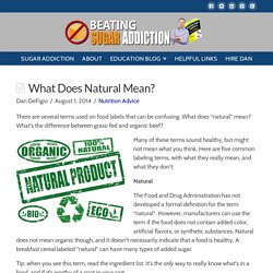 What Does Natural Mean? - Beating Sugar Addiction