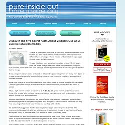 Pure Inside Out - The Natural Benefits of Vinegar