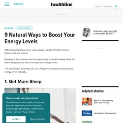 9 Natural Ways to Boost Your Energy Levels