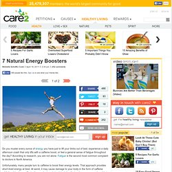 7 Natural Energy Boosters
