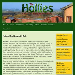 Natural Building with Cob