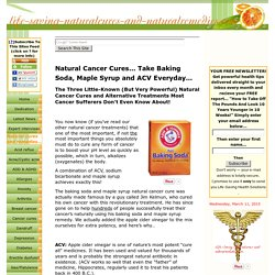 Natural Cancer Cures Shock! - Baking Soda? Real or Hoax?