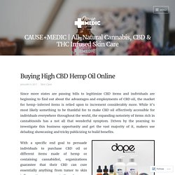 Buying High CBD Hemp Oil Online – CAUSE+MEDIC