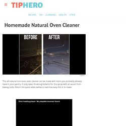 Natural Oven Cleaner Recipe & Video