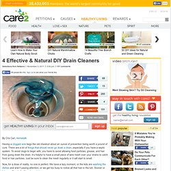 4 DIY Natural Drain Cleaners