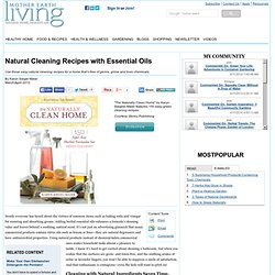 Natural Cleaning Recipes with Essential Oils - Green Living