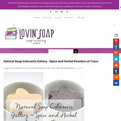 Natural Soap Colorants Gallery - Spice and Herbal Powders at Trace - Lovin Soap Studio