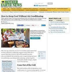 Natural Cooling Methods: How to Keep Cool Without Air Conditioning - Renewable Energy