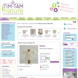 Cache-coeur bio écru Iobio - Tim-Tam Nature