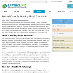 Natural Cures for Burning Mouth Syndrome