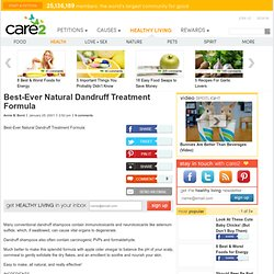 Best-Ever Natural Dandruff Treatment Formula
