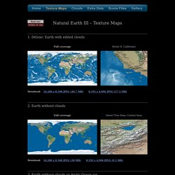Natural Earth III Texture Maps