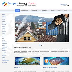 Europe's Energy Portal » Fuel Prices, Rates for Power & Natural Gas