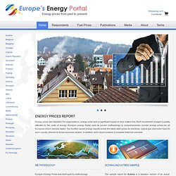Europe's Energy Portal » Natural Gas Prices, Electricity Rates & Fuel Costs