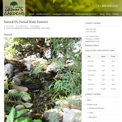 Natural VS. Formal Water Features