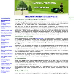 Natural Fertilizer Science Project