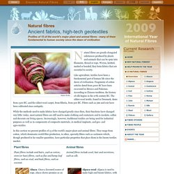 15 Natural fibres - International Year of Natural Fibres 2009