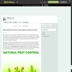 Natural Home Pest Control: A s…