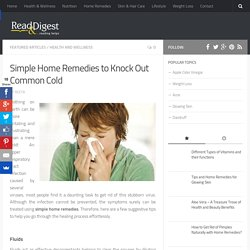 Natural Home Remedies for Common Cold