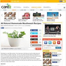 All Natural Homemade Mouthwash Recipes