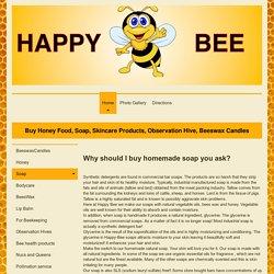 Vegetarian Soap With Honey - Happy Bee