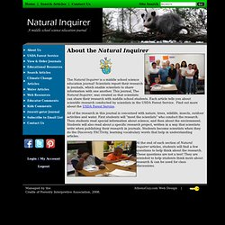 Natural Inquirer >> About Us