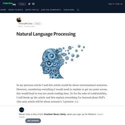 Natural Language Processing – Chatbot News Daily
