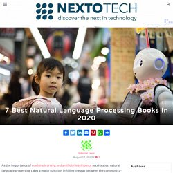 7 Best Natural Language Processing Books In 2020