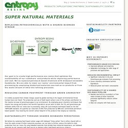 Super Natural Materials | Entropy Resins