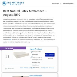 Best Natural Latex Mattresses - The Mattress Advisor