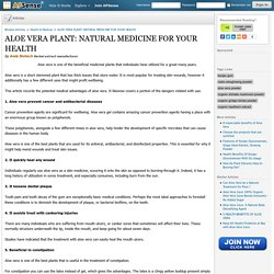 ALOE VERA PLANT: NATURAL MEDICINE FOR YOUR HEALTH by Andy Biotech