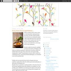 Natural Medicine Rx...: Honey Better Than Cough Medicine....