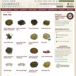 Bulk Tea - Natural and Organic Teas - Fair Trade Certified Tea