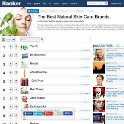 List of Top Organic Skincare Lines