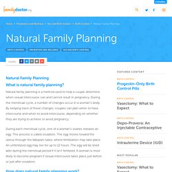 Natural Family Planning - familydoctor.org
