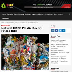 Natural HDPE Plastic Record Prices Hike