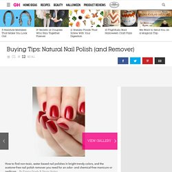 Natural Nail Polish and Remover - Non Toxic Nail Polish Brands