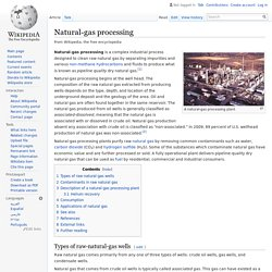 Natural-gas processing - Wikipedia