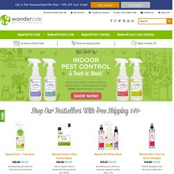 Natural & Organic Pest Control | Natural Pet Products - Wondercide