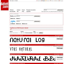 natural - Recherche - dafont.com