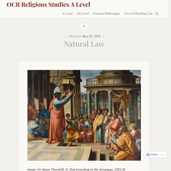 Natural Law – OCR Religious Studies A Level