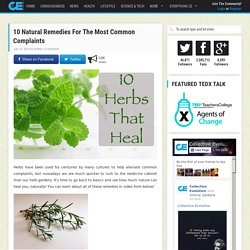 10 Natural Remedies For The Most Common Complaints