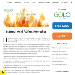 Natural Acid Reflux Remedies